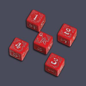 Arkham Horror Dice Set - Cursed