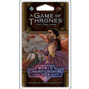 A Game of Thrones: The Card Game (Second Edition) – 2018 World Championship Deck