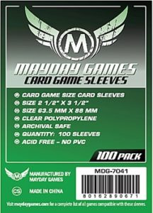 Card Game Sleeves GREEN LABEL