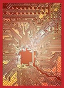 Card Sleeves: Red Circuit (50)