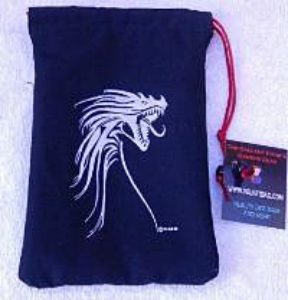 Dice Bag: Silver Tribal Dragon