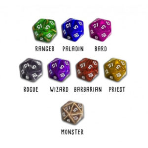 Hero Master: An Epic Game of Epic Fails: Set of 8 Dice