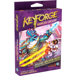 KeyForge: Worlds Collide Deluxe Archon Deck - PREORDER (ORDER BY ITSELF ONLY - SEE FAQ)
