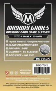 Magnum Space Alert-Dungeon Petz Card Sleeves (pack of 50 Premium)