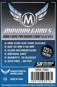 Mini Euro PREMIUM Card Sleeves BLUE LABEL