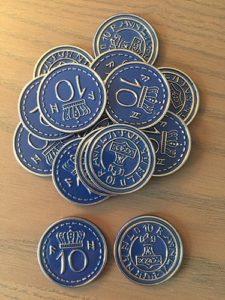 Scythe Promo #15 -15 Metal $10 Blue Coins