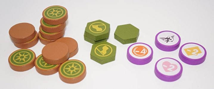 Scythe Encounter and Expansion Tokens (19 pcs)
