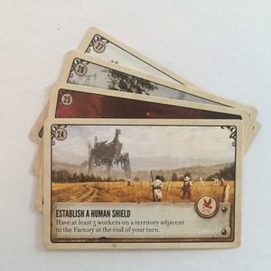Scythe Kickstarter Promo Pack #3 - 4 Promo Objective Cards